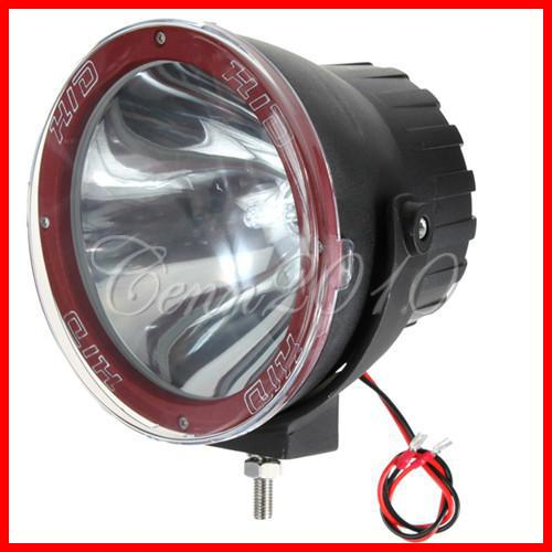 "7"" 55W 75W HID Xenon Driving Light Off-Road SUV ATV 4WD 4x4 JEEP Spot / Flood Beam 3200lm 12V/24V Truck Fog Headlamps Ultra Bright NEW"