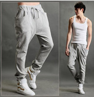 Wholesale Mens Dance Harem Sweatpants - new Casual Harem Pants Athletic Hip Hop Dance Sporty Hiphop Mens Sport Sweat Pants Slacks Loose Long Man Trousers Sweatpants