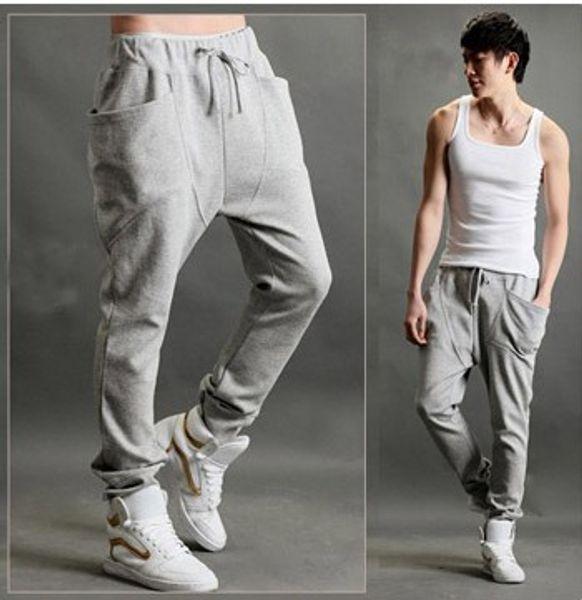 best selling new Casual Harem Pants Athletic Hip Hop Dance Sporty Hiphop Mens Sport Sweat Pants Slacks Loose Long Man Trousers Sweatpants