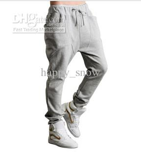 Yeni Rahat Harem Pantolon Atletik Hip Hop Dans Sportif Hiphop Erkek Spor Ter Pantolon Gevşek Uzun Adam Pantolon Sweatpants Slacks