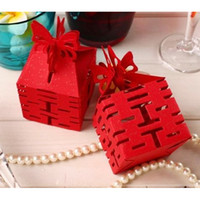 100 pcs Papillon Rouge Candy Box Chinois