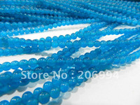 Wholesale 4mm Apatite runde Edelstein-lose Korne 15