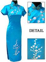 Wholesale Red Chinese Wedding Dress - chinese cheongsam plum blossom women's evening dress wedding dress S-3XL