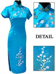 Wholesale Cheongsam Evening Dresses - chinese cheongsam plum blossom women's evening dress wedding dress S-3XL