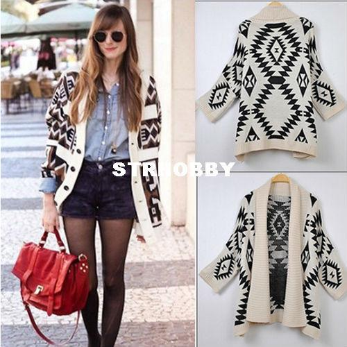 Best On Sale! Oversized Open Front Loose Sweater Wrap Cape ...