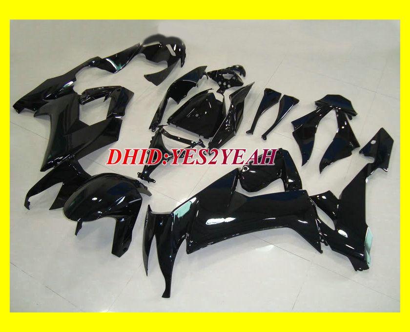ホット!!! 2008年のすべての光沢の黒いフェアリングキット2009年川崎忍者ZX10R ZX-10R ZX 10R 08 09 09オートバイフェアリングセット+ギフト