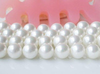 rosa teardrop perlen großhandel-Freies Verschiffen AA12MM weiße Farbe Round Shaper Perlmutt lose Bead Strand Shell Schmuck