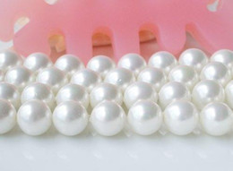 Wholesale Loose Pearl Strands - Free Shipping AA 8mm White color Round Shaper Mother Of Pearl Loose Bead Strand Shell Jewelry