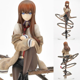 Wholesale Model Figure Scales - Free Shipping Cool 1 8 Scale Steins Gate Makise Kurisu Sexy PVC Figure Model