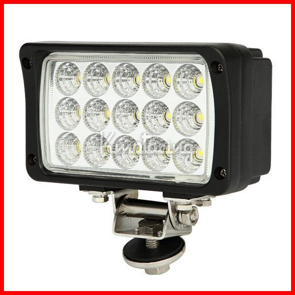 "6"" 45W 15LED*3W USA Bridgelux Chips LED Driving Work Light Offroad SUV ATV 4WD 4x4 Spot / Flood Beam 9-32V 3900lm Rectangle High Power"