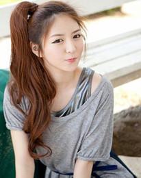 2019 длинные кудрявые волосы кусок хвостик New Fashion Unique Hot Sale One Piece Long Curly / Wave / Cute Lady 's Ponytail hair extension дешево длинные кудрявые волосы кусок хвостик