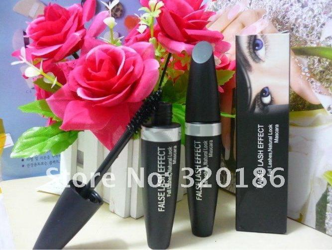Maquillaje FALSO LASH EFFECT Mascara Lashes completos, Natural Look Mascara negro 24pcs / lot nave de la gota