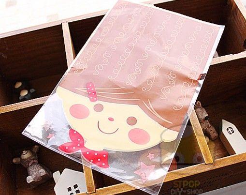 14cmx21cm chocolate bread packing bags Fun Face Printed Cello bag & Candy Bag