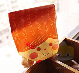 Wholesale Chocolate Packing - 14cmx21cm chocolate bread packing bags Fun Face Printed Cello bag & Candy Bag