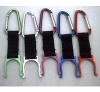 Wholesale Water Bottles Clips - wholesale free shipping Carabiner Clip Water Bottle Holder Camping Snap hook clip-on outdoor