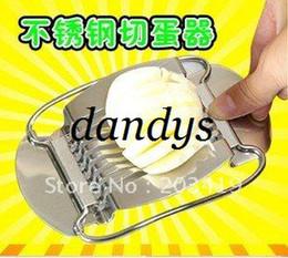 Affettatrice all'ingrosso per uova online-Vendita al dettaglio all'ingrosso in acciaio inox uovo formaggio taglierina insalata affettatrice chopper uovo affettatrice