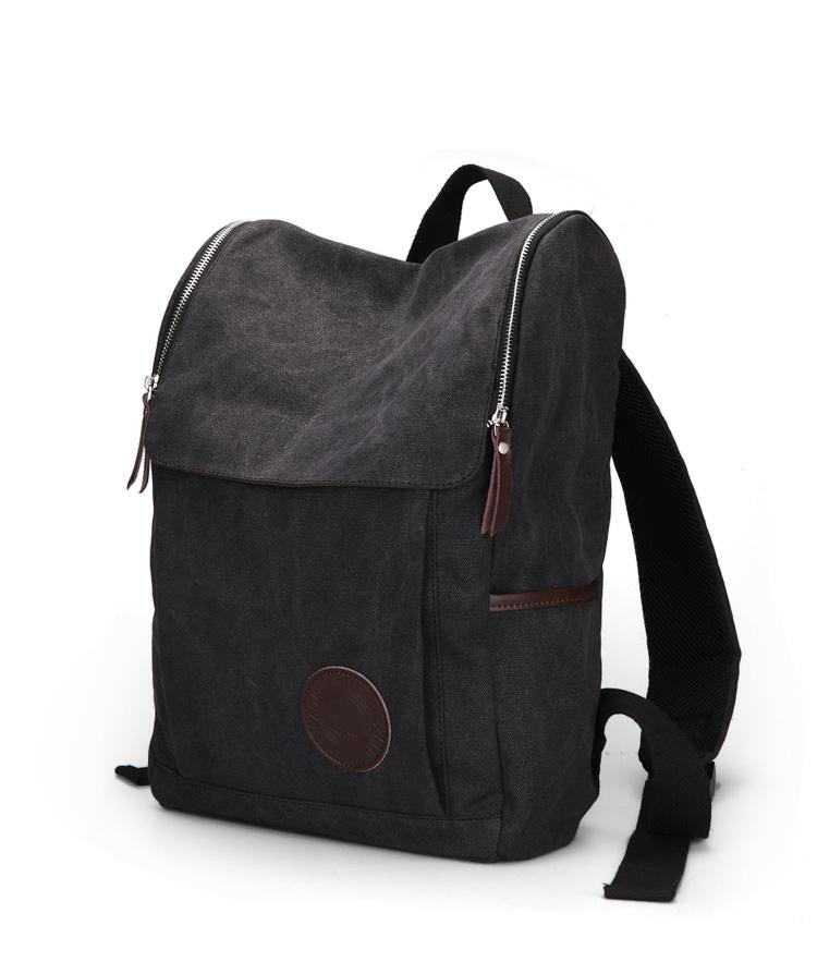 Brown Black Canvas Backpack Bags Canvas Bag Clutch Bags Student ...