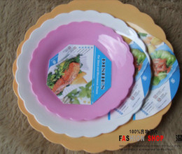 002 plastic dinner plates pure color Anti- broken Round freeshipping & Color Dinner Plates Online | Color Dinner Plates for Sale
