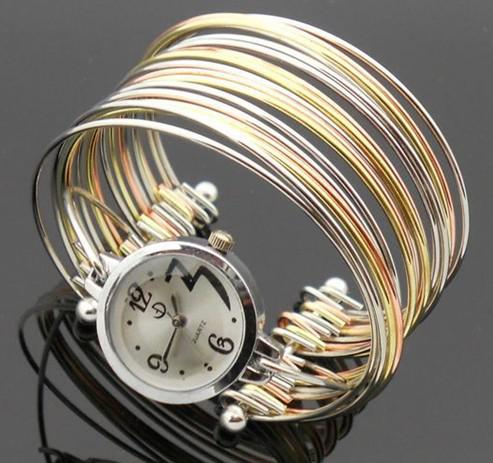 15% off! Gold and silver fashion ladies watches fashion watch bracelet watch!fashion jewellery!