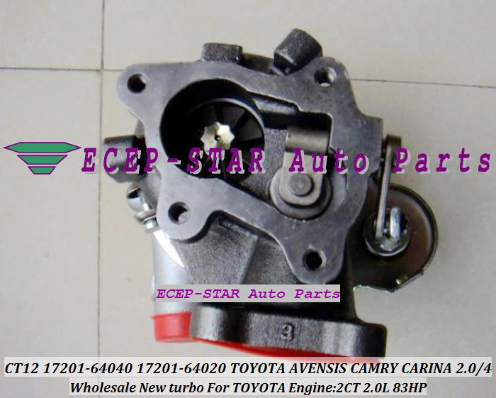 CT12 17201-64040 17201-64050 17201-64020 1720164040 Turbo turbocompressor voor Toyota Avensis CAMRY CARINA-E Townace Lite Ace 2CT 2CT 2.0L D