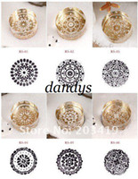 Wholesale Carved Stamps - free shipping vintage Antique crystal round decorative pattern Stamps seal carved gift craft toy Fashion gift