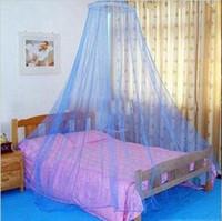 moskito-baldachin vorhänge großhandel-Guten Schlaf anmutig elegante Bett Vorhang Filet Baldachin Moskitonetz