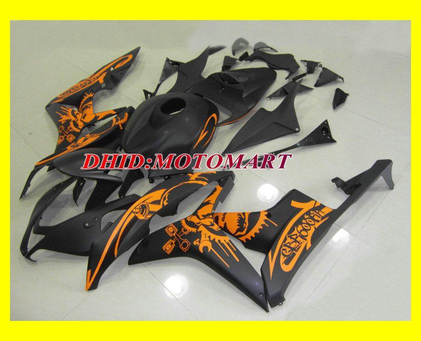 Injectievereiken Set voor 2007 2008 Honda CBR600RR CBR 600 RR F5 CBR600 RR 07 08 Oranje Black Fairing Carrosserie