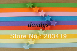 Wholesale Origami Star Paper Strips - wholesale retail 100pc bag colorful lucky star Origami folding strip paper DIY gift decor craft love
