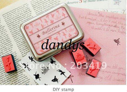 $enCountryForm.capitalKeyWord Canada - wholesale retail Wooden ballerina angel gril cartoon vintage Antique Stamps seal diary carved gift stamp sets