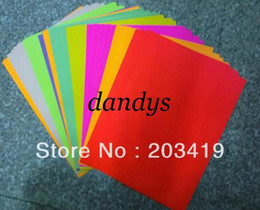 Wholesale Die Stickers - wholesale color A4 self-adhesive sticker paper for scrapbook craft Punch stamping up die DIY diary gift