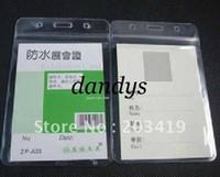 Wholesale Waterproof Id Badge Case - Wholesale retail mulit Vertical soft Waterproof ID Badge Holders PVC name plastic card case certificate
