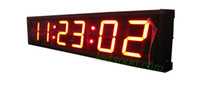 Wholesale 4inch digits red color hours minutes and seconds led clock HIT6 R