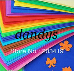 Wholesale Craft Punches Wholesale - wholesale color 50*50cm sponge foam paper for background folden scrapbook craft Punch stamping up di