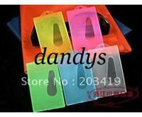 Wholesale Waterproof Id Badge Case - wholesale mulit color option Vertical soft Waterproof ID Badge Holders PVC name credit card case