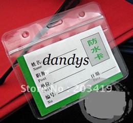 Wholesale Id Badge Holders Pvc - Wholesale retail Waterproof Badges Holders ID card name PVC card certificate