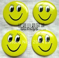 diversión del botón al por mayor-Venta al por mayor al por menor de la alta calidad de la sonrisa de la cara de la insignia del Pin medalla de botón de la cara más barato ojos abiertos sonriendo divertido