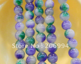 "Wholesale Crystal Gemstone Loose Beads - new arrive 10mm Multicolor Kunzite Round Gemstone Loose Beads 15"" 2pc lot fashion jewelry"
