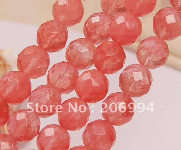 """Wholesale 10mm Faceted Watermelon Tourmaline Gem loose Beads 15"""" 2pc/lot fashion jewelry"""