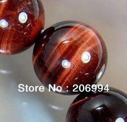 Cordes africaines en Ligne-Livraison gratuite nouvelle arrivée africaine Roar naturel oeil de tigre ronde perles en vrac 15 pouces chaîne 8mm 2pc / lot bijoux de mode