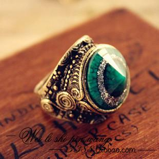 2017 Women Vintage Rings Antique Mens Wedding Bands Punk Men Ring