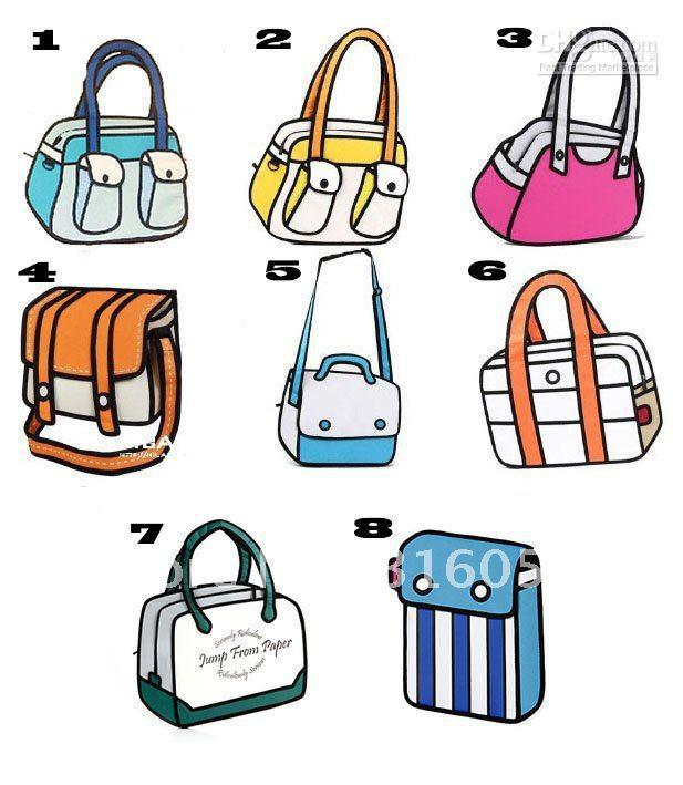 All Design Magic D Bag Jump From Paper Comic Bag Cartoon Bag - Cartoon handbags