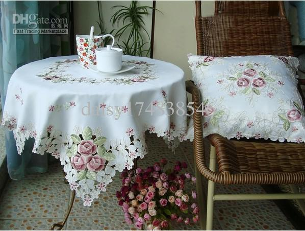 Fashion Cover In Dining Table Cover Table Cloth Coffee Table Cover With Pink Rose