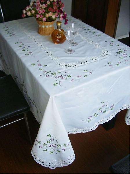 lucky purple small flower dining table cover / table cloth/coffee