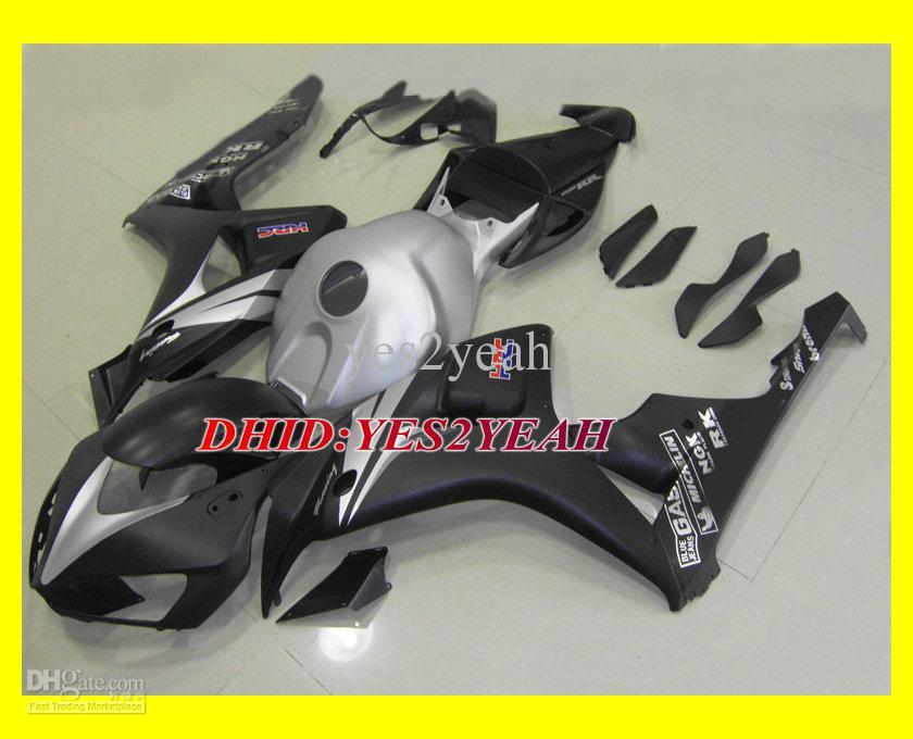 Injectie Mold Backings Set voor 2006 2007 Honda CBR1000RR CBR-1000RR CBR 1000RR 06 07 Silver Flat Black Fairing Kit + Geschenken