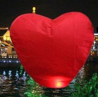 Wholesale Chinese Lanterns Wholesale Heart Shaped - Wholesale 30 PCS Heart shape FIRE SKY CHINESE LANTERNS BIRTHDAY WEDDING PARTY UFO HOT Selling