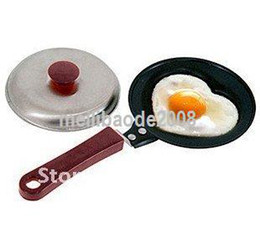 Wholesale Heart Shaped Frying Pan - Non-Stick Mini Lovely Heart Shape Egg Frying Pan+pan cover MGXA146