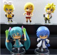 "Wholesale Mini Vocaloid Figures - Nendroid Vocaloid Series Hatsune Miku Kaito Kagamine Rin Len 3"" PVC Mini Figure Colloction Model"