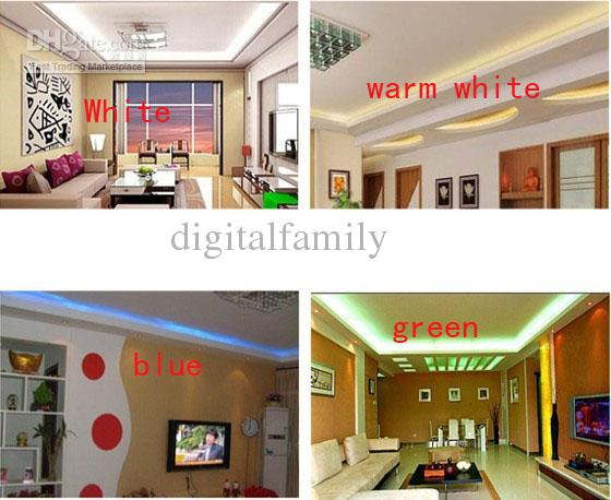 RGB AC 110V LED Strip outdoor waterproof 5050 SMD Neon Rope Light 60LEDs/M with POWER SUPPLY Cuttable at 1Meter via DHL FedEx