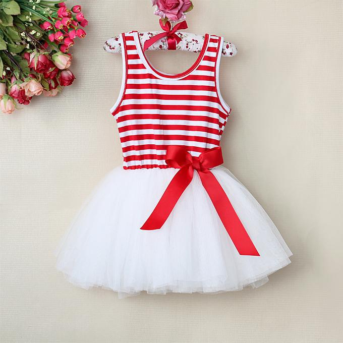 eaa89078ff9 2019 2016 Beautiful Girl Pettiskirt Dresses Red Striped Children Princess  Party Dress For Girl Clothing Kids Clothes GD30110 8 From  Cnbabywholeseller, ...