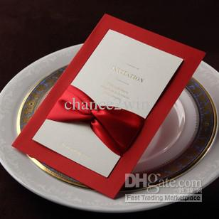 Formal bold red wedding invitation cards with red bows party invites formal bold red wedding invitation cards with red bows party invites inserted style set of 100 wedding invitation letter wedding invitation messages from stopboris Image collections